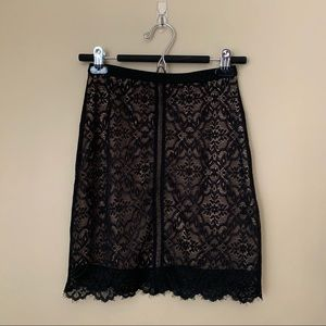 Aritzia Wilfred Lace Mini Skirt